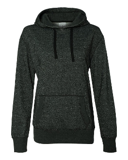 J. America - Ladies' Glitter French Terry Hooded Pullover